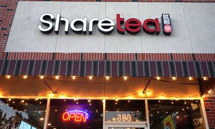 Sharetea Celebrates 1 Year Anniversary & Debuts New Menu Items