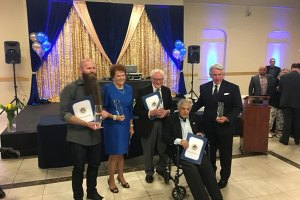 Elk Grove Hall of Fame Inductees: Jeremey Reeves, Elaine Wright, Arnie Zimbleman, Gregory Kondos, Buck MartinezPhoto Credit: Vice-Mayor Darren Suen