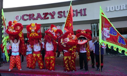 Journey To The Dumpling & Chason's Crab Stadium Ring In Year of The Pig With A Dragon Dance, A Lion Dance, & Firecrackers