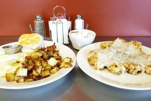 Because at Jamie's, it takes two plates to serve their Chicken Fried Steak meal.
