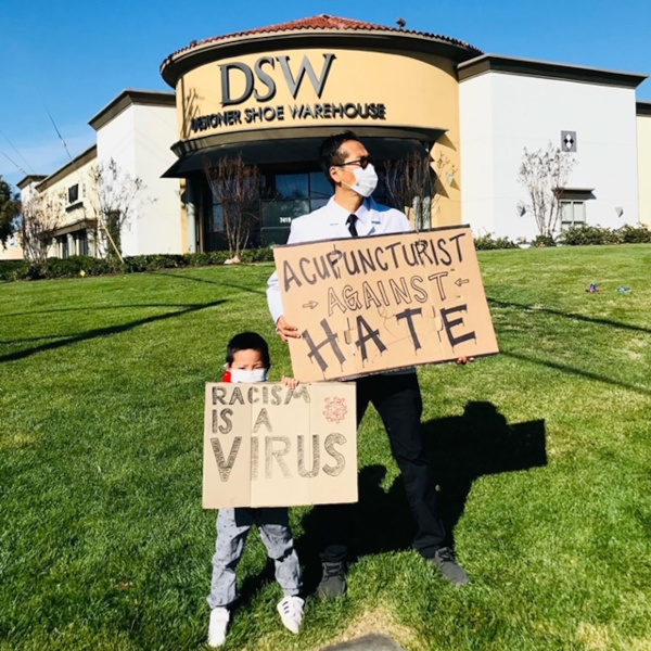 Hate Is A Virus: Protesting Anti-Asian Sentiment In Elk Grove
