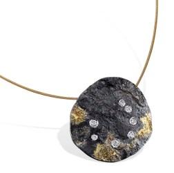 Constellation Pendant, silver, gold, diamonds