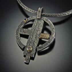 Centerpoint Pendant, diamond, gold, silver