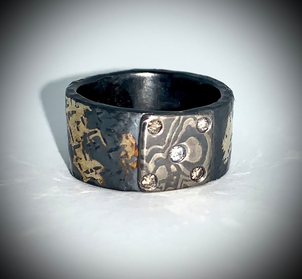 Mokume Gane and Diamond band