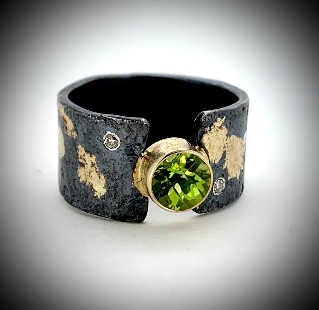 Peridot and Diamond Ring (SOLD)