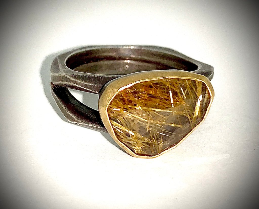 Ruitilated Quartz Ring