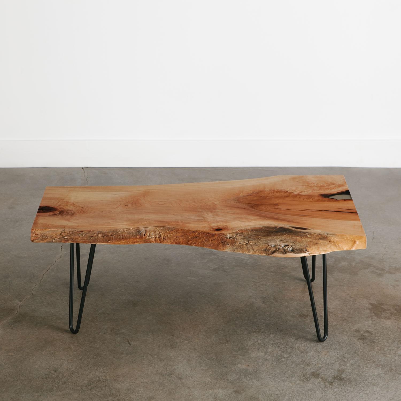 mid century modern slab coffee table