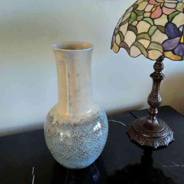 Large Blue Rutile Crystal Auroa Vase