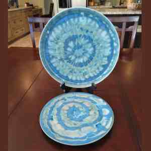 Blue Platter and Plate