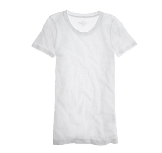 "<p>J.Crew Vintage Cotton Tee, $29.50; <a href=""https://www.jcrew.com/womens_category/50offselectsalestyles/PRD~36183/36183.jsp?N=17&Nbrd=J&Nloc=en_US&Nrpp=48&Npge=1&Ntrm=tee&isSaleItem=false&color_name=WHITE&isFromSearch=true&isNewSearch=true&hash=row6&styles=36183-WT0022"">jcrew.com</a></p><br />"