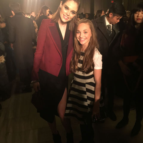 Coco Rocha and I catching up before the Zac Posen show. We have met before and she is one of my favorite models.