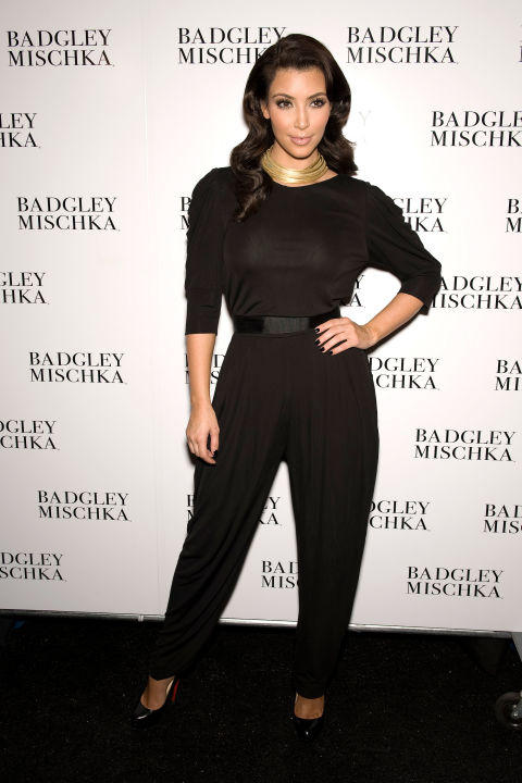 At the Badgley Mischka spring 2010 show