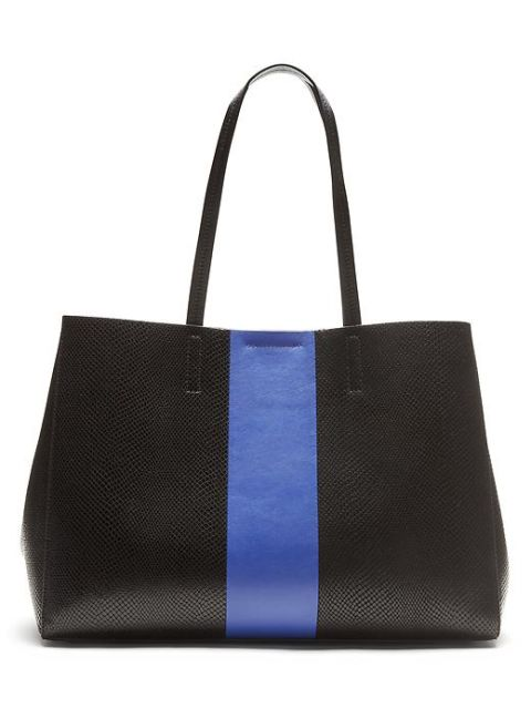 Banana Republic Larkin Racing-Stripe Tote, $188; bananarepublic.gap.com