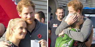 Prince Harry with wounded veteran Kirstie Ennis