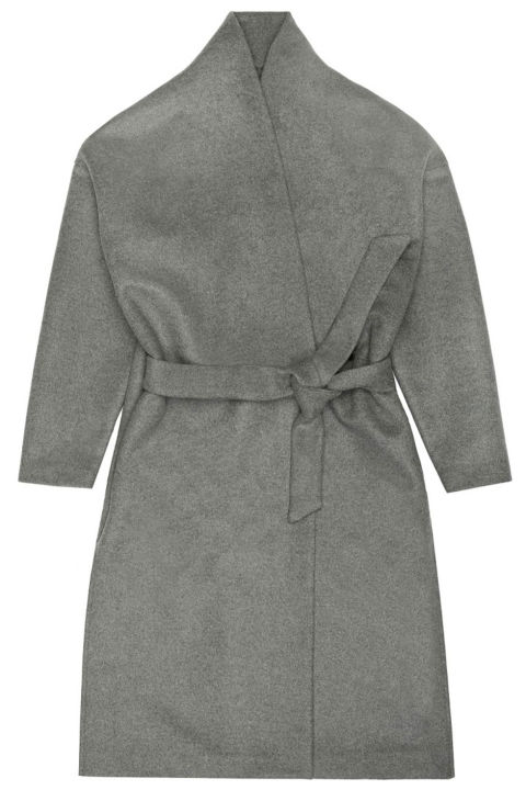 There's something mature and luxurious about this wrap coat, like you'd rather be swathed in cashmere and tied at the waist than buttoned up in a peacoat. It's low-key glam–a daily aspiration for us all. 	Toteme Chelsea Coat, $760; toteme-nyc.com