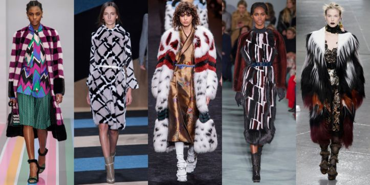 This season's furs (both faux and real) are not for the meek. Be prepared for all eyes to be on you when you walk into a room wearing one of these numbers. As seen at Salvatore Ferragamo,  Derek Lam, Fendi, Oscar de la Renta and Rodarte