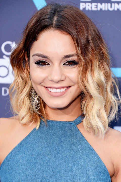 For added drama try Vanessa Hudgens' high-contrast color.