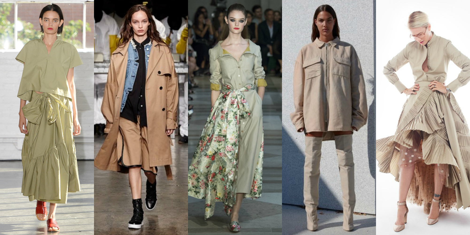 Image result for 2017 fashion trends khaki