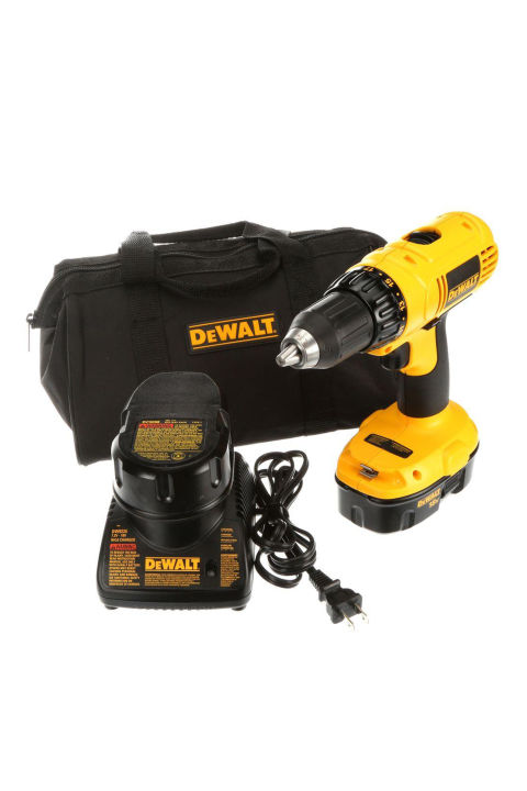 Give him a gift that will finally get that Ikea dresser built: a set of power tools.  Black and Decker DeWalt 18-Volt Ni-Cad ½ In. Compact Drill/ Driver Kit, $99; amazon.com