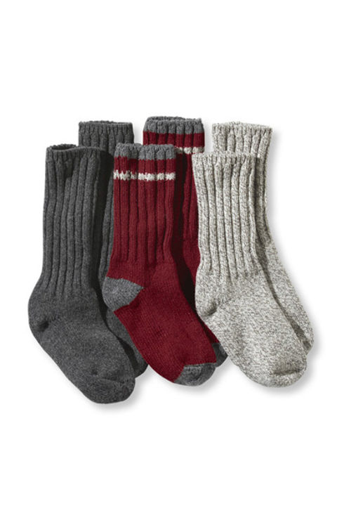 As kids we all hated receiving socks as gifts, but now they're a godsend. This wooly L.L. Bean set is perfect for daily use and would be aces on a cold night of camping.  L.L. Bean Wool Ragg Sock Gift Set, $35; llbean.com