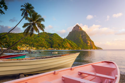 St. Lucia's unique natural and cultural attractions set it apart from its Caribbean counterparts. In place of all-inclusive commercial hotels, you have luxury resorts which offer open-air suites and first-class amenities. Beyond the standard lounging on picturesque beaches, you can hike the Pitons or relax at the Sulphur Springs. And on weekends, street festivals are the perfect way to take in a bit of authentic St. Lucian culture and cuisine.