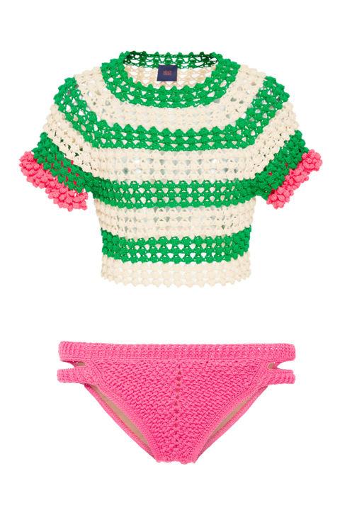 Helen RödelMangueira Fringe Crop Top, $550; modaoperandi.comHelen Rödel Bridge Bikini Bottom, $195; modaoperandi.com