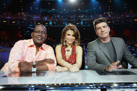 Idol Judges Randy Jackson (L), Paula Abdul and Simon Cowell (R)