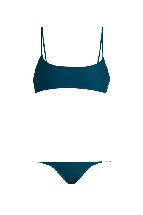 Jade Swim Muse Scoop-Neck Bikini Top, $80; matchesfashion.comJade Swim Bare Minimum Bikini Briefs, $80; matchesfashion.com