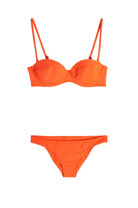 DVF Classic Bikini Top with Detachable Straps, $109; stylebop.comDVF Classic Bikini Bottoms, $69; stylebop.com