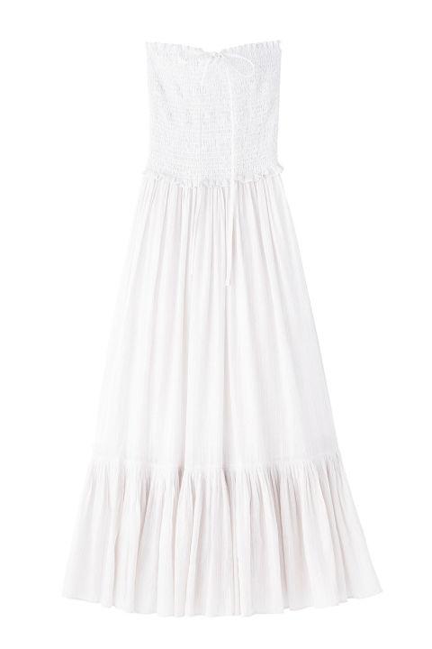 Rebecca Taylor Lurex Stripe Halter Dress, $350; rebeccataylor.com