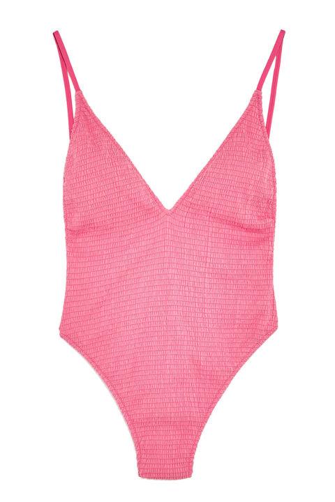 Zara Smocked Swimsuit, $36;zara.com