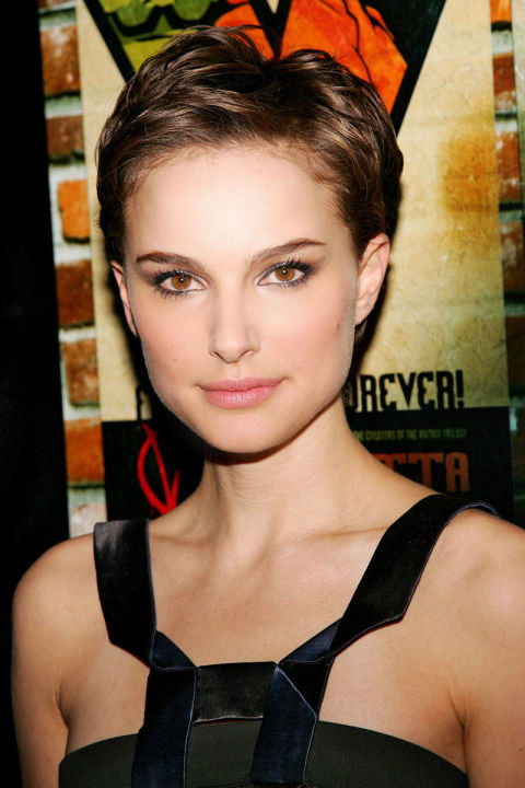 """It was a one-shot deal, and that was the most stressful thing about the experience,"" Portman said of her scene in V for Vendetta in which her hair is shaved off. It was hairstylist Mark Townsend who made certain growing out the buzz cut wouldn't be as stressful, leaving her hair longer on top for what he said offered her more versatility."