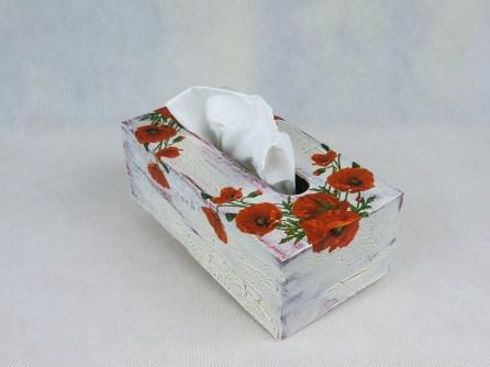 Pudełko na chusteczki - maki