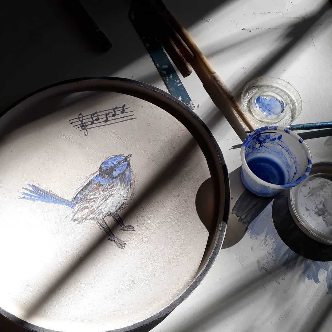piaf bleu