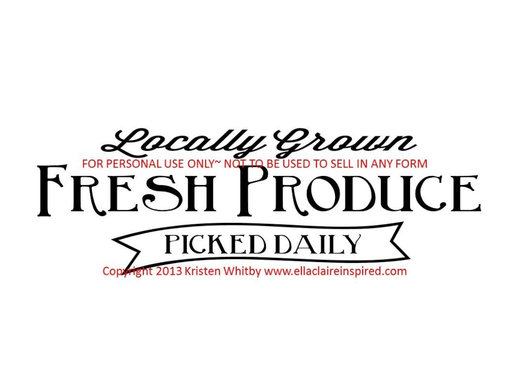 Fresh Produce Sign For My Garden Tutorial And Template