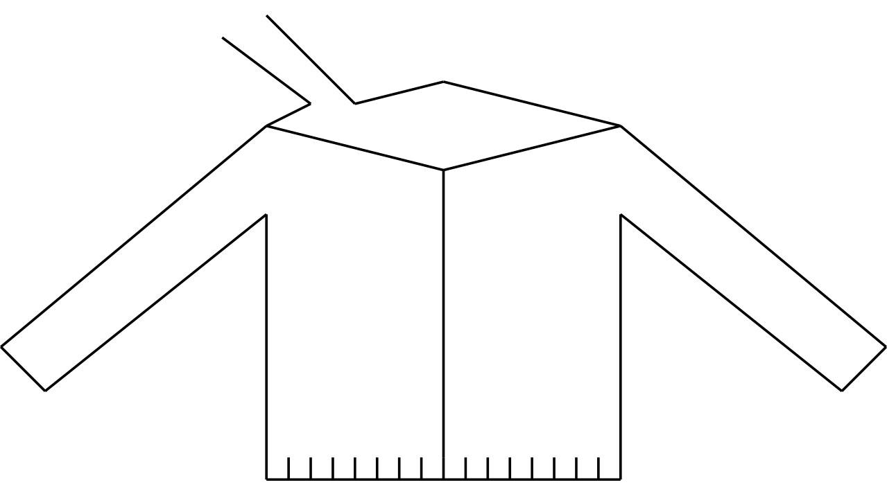 machine knitting for a yoke