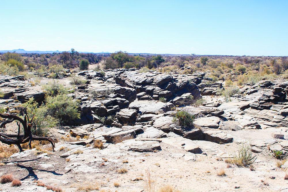 Gorge outside The Lodge at Naankuse Wildlife Sanctuary Namibia