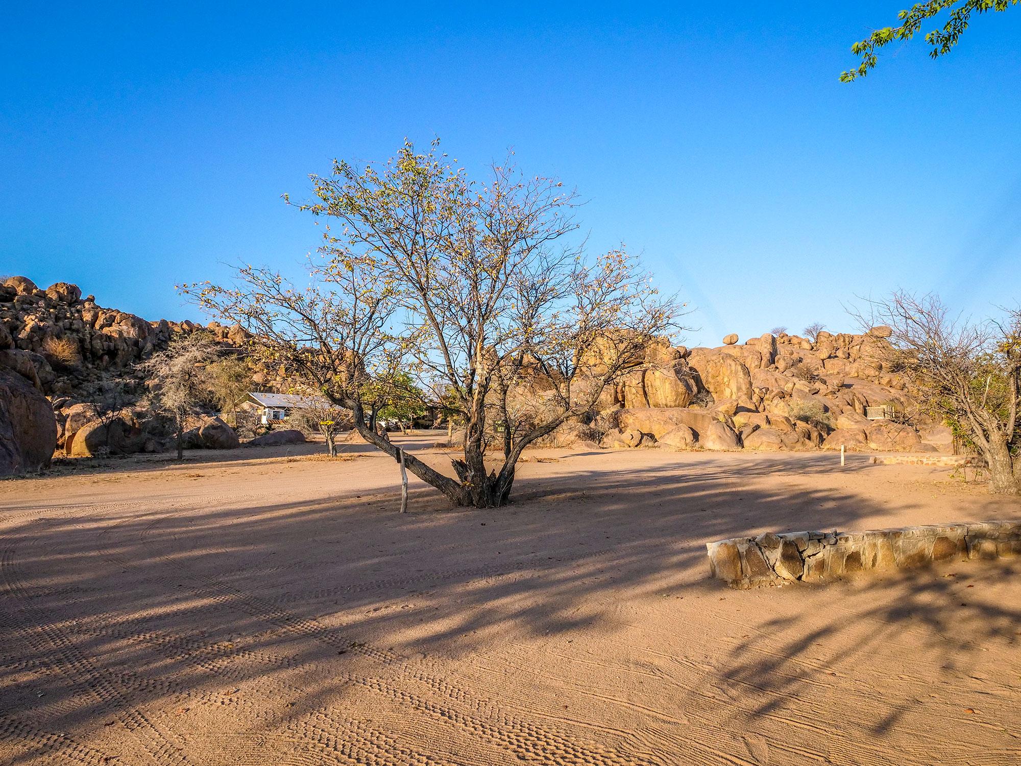 Madisa desert campsite in Damaraland in Namibia, Africa