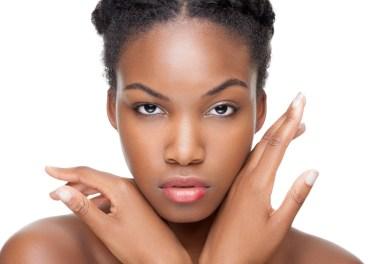 person with beautiful glowing skin