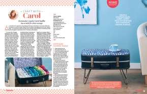 Ella Johnston Scandi Leaves fabric used on Carol Smillie Homemaker project. Styling by Ella Johnston, Photography by Cliqq Photography
