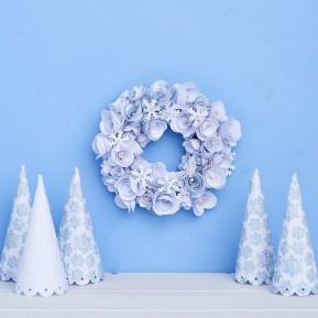 Snowflake Wreath for Homemaker Magazine using Ella Johnston snowflake pattern design