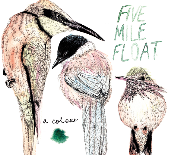 Album cover commission, Five Mile Float, A Colour.