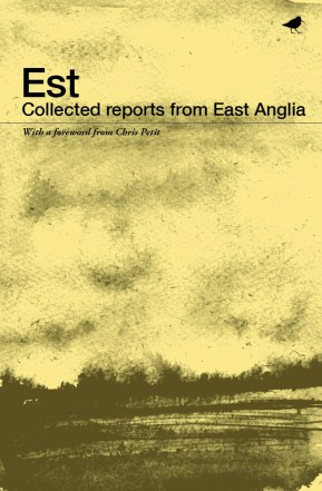 Illustration and design by Ella Johnston. Est, Collected Reports from East Anglia, Dunlin Press.