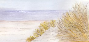 Sand dunes, illustration (c) Ella Johnston, Brittany Ferries, Guardian Labs 2017