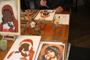 Icoon schilderen