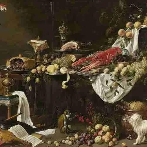 druiven schilderen, schilderij