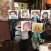 Manga schilderles kinderpartij