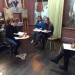 Modeltekenen op atelier Haarlem