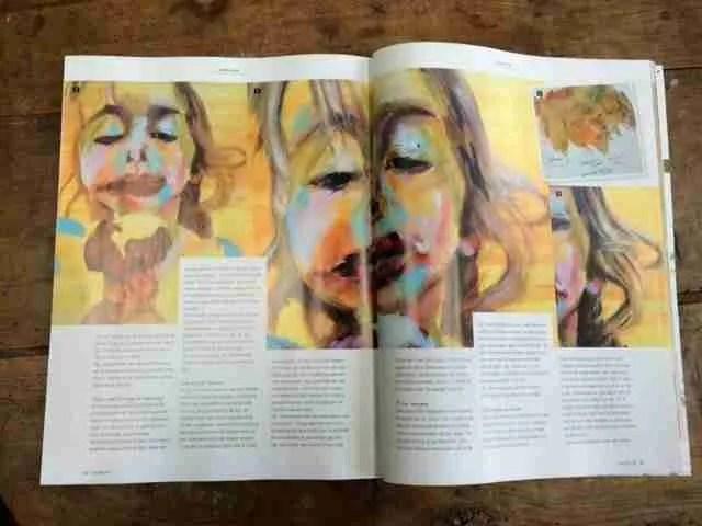 Atelier magazine; Het meisje met het ijsje artikel