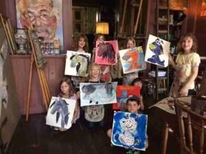 kinderpartij workshop schilderles van Isa